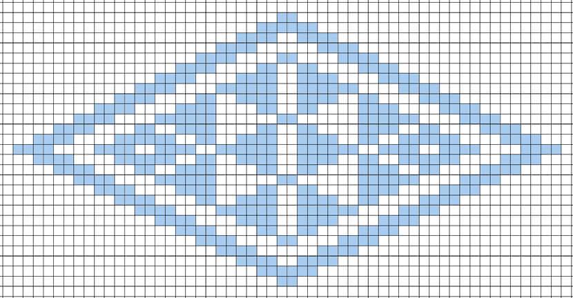 菱刺し「鱗紋」図案