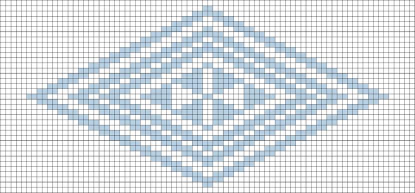南部菱刺し鱗紋図案